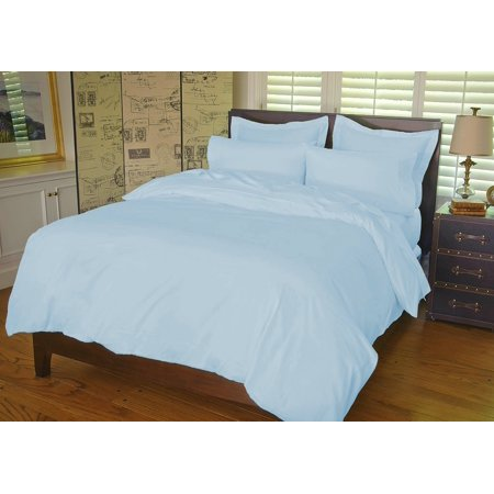 Warm Things Home 360 Thread Count Cotton Percale Sheet Set BLUE / King