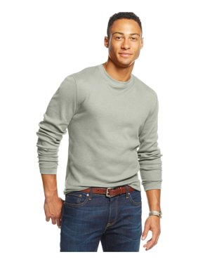 Club Room Mens Thermal LS Pullover Sweater, Beige, Big 4X