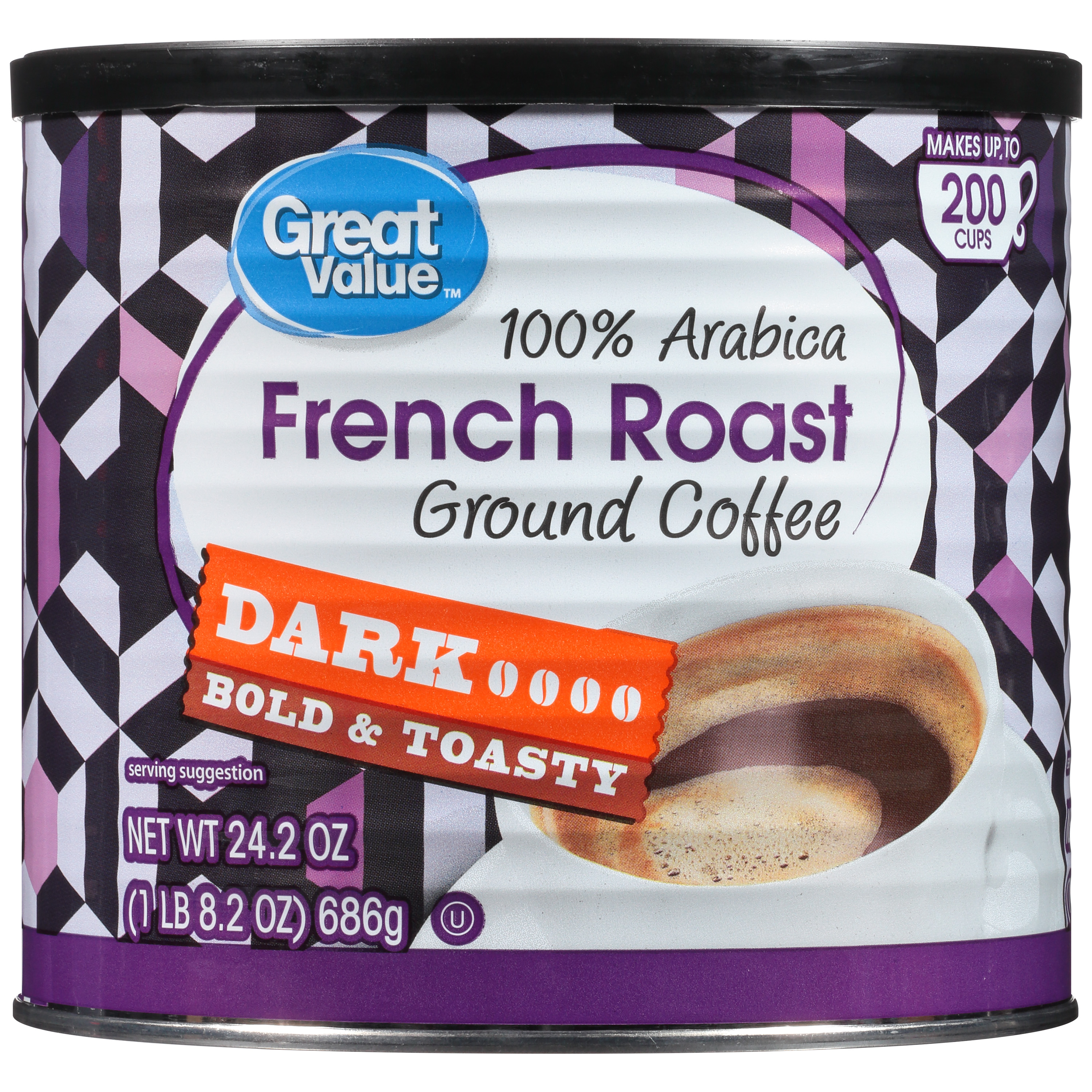 Great Value French Roast Ground Coffee, Dark Roast, 24.2 oz
