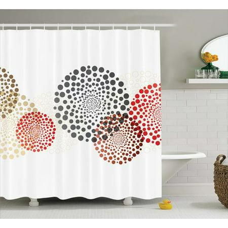 Ebern Designs Agawam Circled Modern Dots Shower Curtain Hooks
