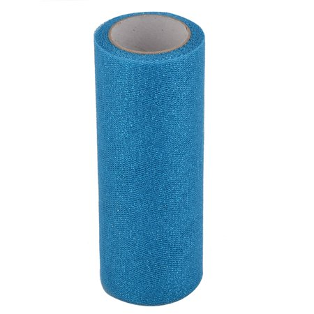 Unique Bargains Home Polyester Tutu Gift Packing Tulle Spool Roll Teal Blue 5.9 Inch x 10 Yards ()