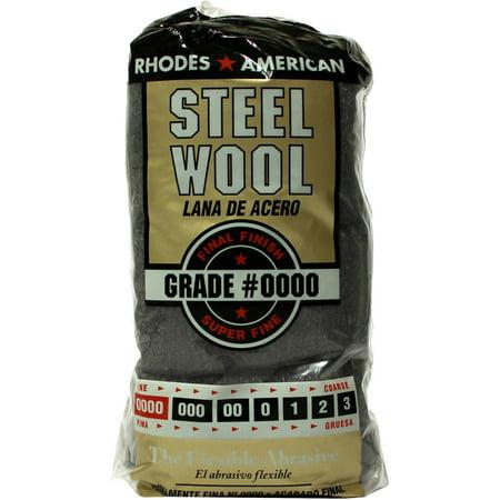 2 Radial Steel Wool Floor (Rhodes American Steel Wool, Super Fine Grade #0000, 12 pads )