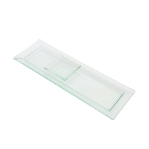 TenStrawberryStreet Sheer Frosted Dishes Serving Tray (Set of 24)