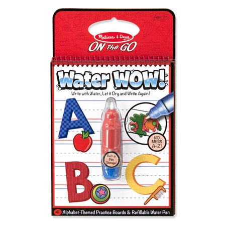 Melissa & Doug On the Go Water Wow! Alphabet Activity Book With 4 Practice Boards and Water Pen - Water Wow Melissa And Doug