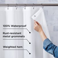 Better Homes & Gardens Ultimate Shield Fabric Shower Curtain Liner