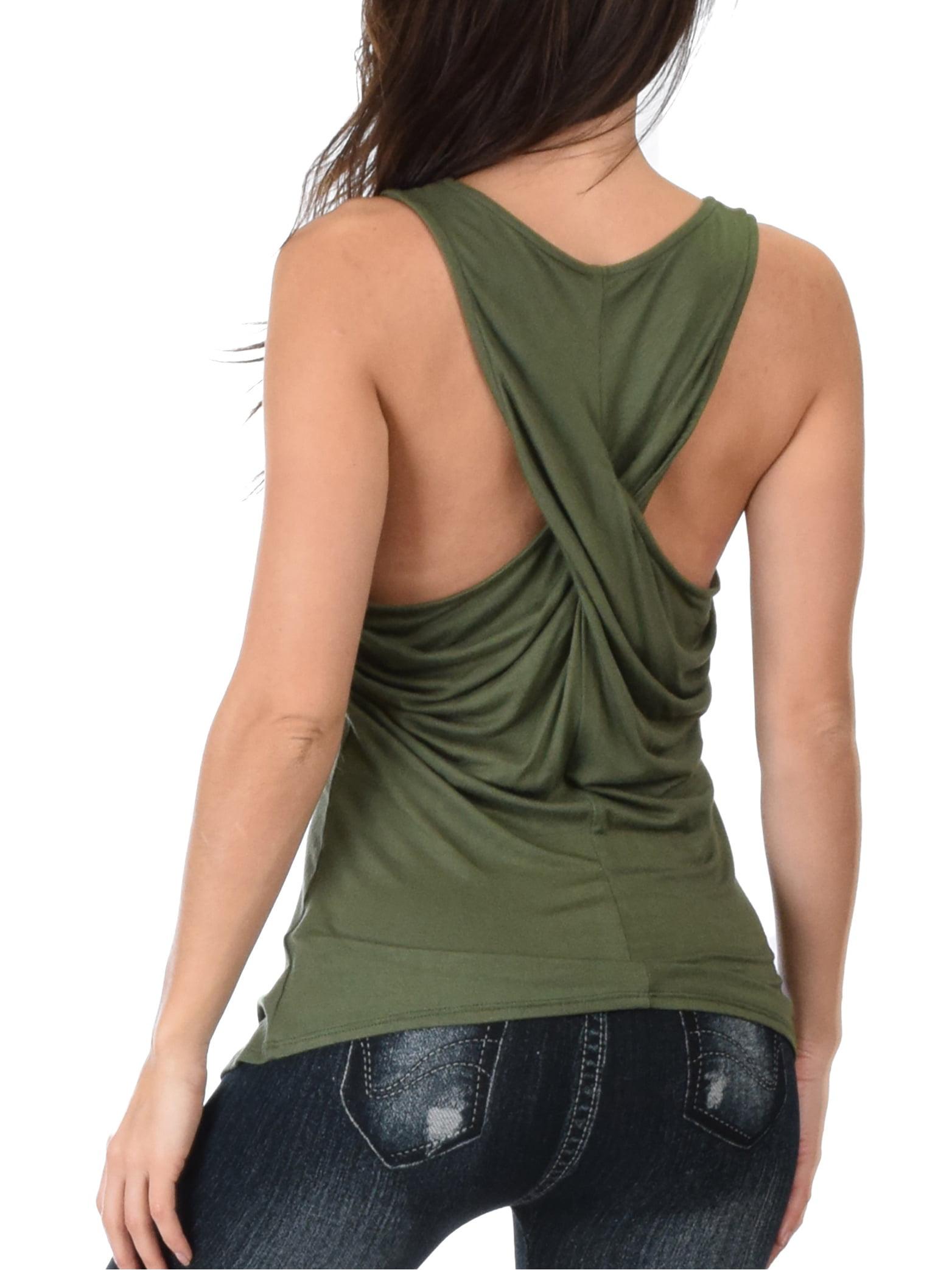 fd1c65ca7fcf6 Lyss Loo - Lyss Loss Women s Twist Back Tank Top - Walmart.com