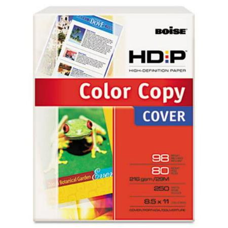 Cascades Bcc8011 Hd P Color Copy Cover  80 Lbs   98 Brightness  8 1 2 X 11  White  250 Sheets
