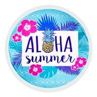 "Aloha Summer Multifunctional Round Beach Towel 58"" Diameter"