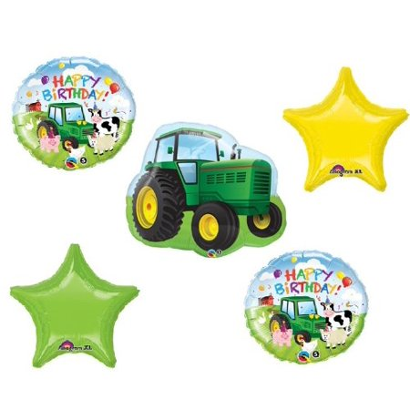 Tractor Birthday Party Decorations (TRACTOR John DEERE Green Barn FARM Birthday Party Decorations MYLAR)