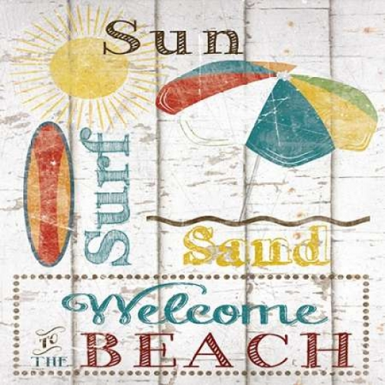 Sun Surf and Sand Poster Print by Katrina Craven