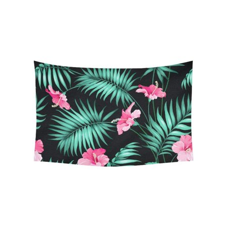 CADecor Tropical flowers and jungle Wall Hanging Tapestry 40x60 inches Custom Beadroom Home Decor](Custom Tapestry)
