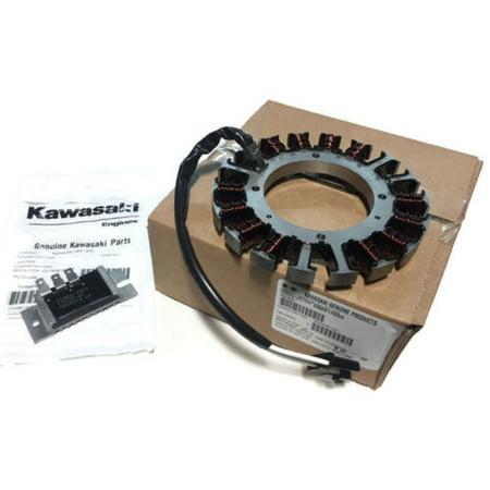 Op Amp Regulator (GENUINE KAWASAKI Charging Coil 59031-7009 & 20 AMP Regulator 21066-7011 2 items )