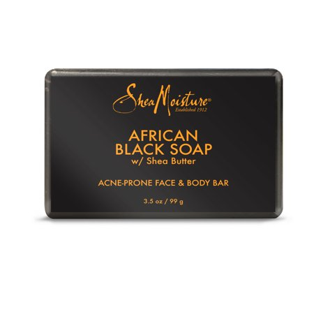 (2 pack) Shea Moisture African Black Soap, 3.5 oz