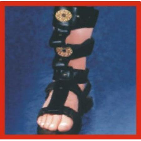 Roman Sandal Spats Shoes-Black