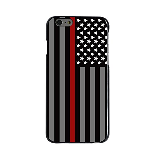 Ganma Thin Red Line Fire Fighter Department Rubber Case For iPhone 7 (4.7inch screen)