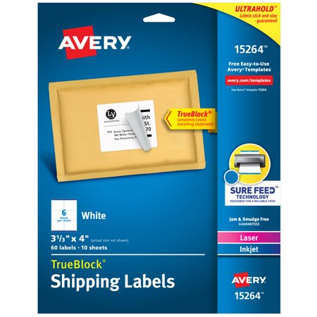 Avery Internet Shipping Labels, 3-1/3