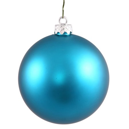Matte Turquoise Blue UV Resistant Commercial Shatterproof Christmas Ball Ornament 4