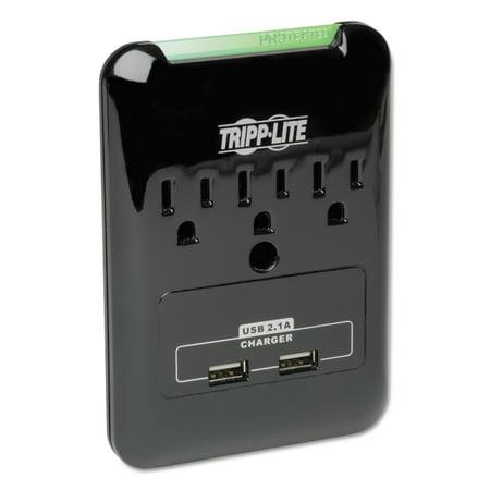 Tripp Lite SK30USB Surge Suppressor, 3 Outlets/2 USB, 540 Joules, Black