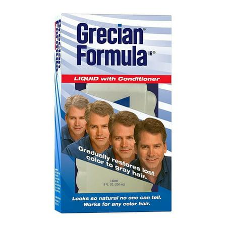 Grecian Formula Liquid With Conditioner For Hair, 8 oz, 6 - Grecian Armor