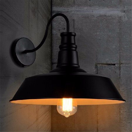 Wall-mounted Gooseneck Wall Sconce Barn Light LED Wall Fixture Lampshade for Indoor/Outdoor Use Industrial Vintage Farmhouse For Loft Warehouse Garden Garage Loft