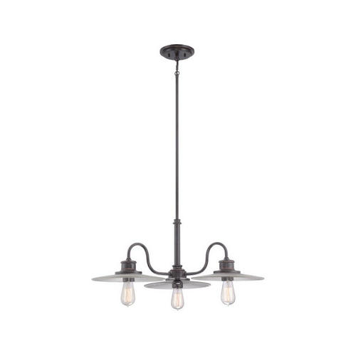 Quoizel ADM5103IB Admiral 3-Lights Chandelier, Imperial Bronze by Quoizel