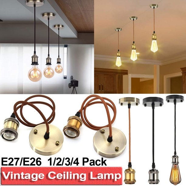 E26 Pendant Light Kit Ceiling Retro, Vintage Lamp Holder Kit