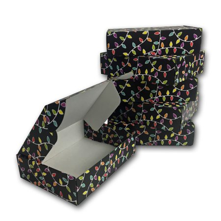 Uboxes Holiday Gift Boxes, Decorative Black, 12 x 9 x 3 in., 6