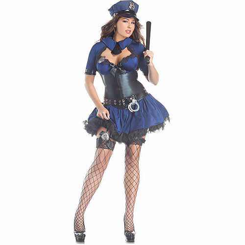 Sultry Officer Body Shaper Plus Size Adult Halloween Costume  sc 1 st  Walmart & Sultry Officer Body Shaper Plus Size Adult Halloween Costume ...