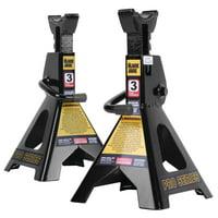 Black Jack 3 Ton Jack Stands Pair Black - T43002W