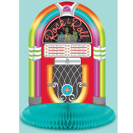 I Love Rock and Roll Juke Box Honeycomb Centerpiece - Music Themed Centerpieces
