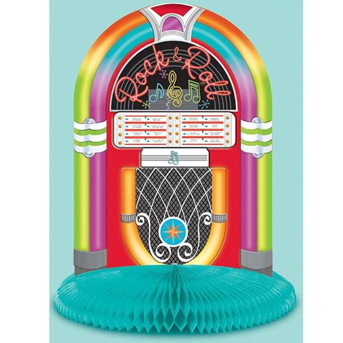 I Love Rock and Roll Juke Box Honeycomb Centerpiece (1ct)