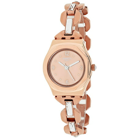 Swatch Women's Irony YSG136G Rose Gold Stainless-Steel Swiss Quartz Fashion Watch