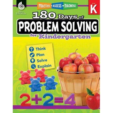 180 Days of Problem Solving for Kindergarten (Grade K) : Practice, Assess, Diagnose](Kindergarten Art Ideas For Halloween)
