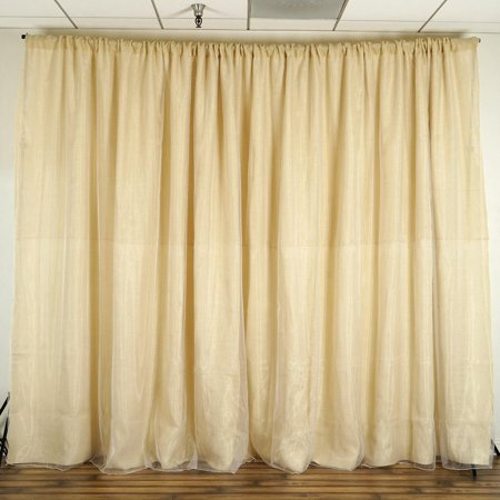 BalsaCircle Natural Brown 20 ft x 10 ft Burlap Backdrop Curtain - Wedding Party Photobooth Ceremony Event Photo Booth Decorations - Window Decoration