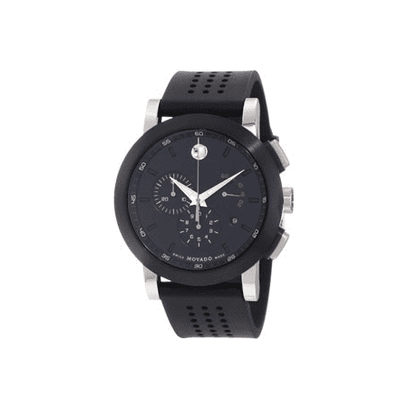 Movado Museum Perforated Rubber Sport Watch - Black