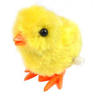 Fancyleo Wind-Up Jumping Chick and Bunny, Plush Hopping Animal Toys Party Favors Novelty Toys Christmas Present Party Favors