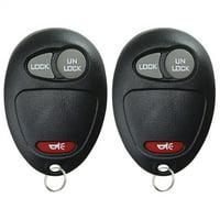 2 PACK KeylessOption Keyless Entry Remote Car Key Fob for Chevy Colorado GMC Canyon Hummer H3 L2C0007T