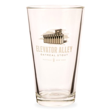 Elevator Alley Oatmeal Stout Pint Glass - 16 oz (Best Glass For Stout)