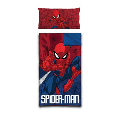 Marvel Spider-Man Kids Slumber Bag with BONUS Pillow