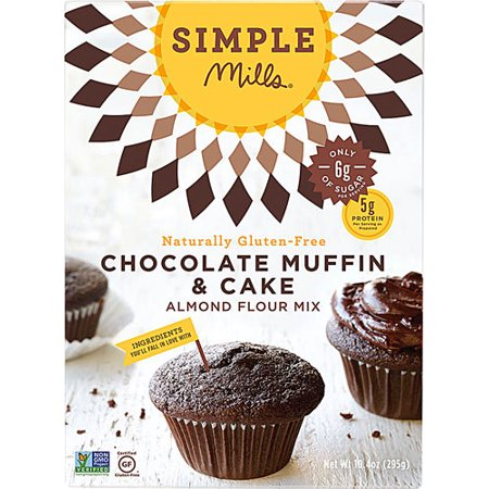 Simple Mills Gluten Free Muffin & Cupcake Almond Flour Mix Chocolate -- 10.4 oz pack of 1 (Halloween Chocolate Cupcakes Recipes)