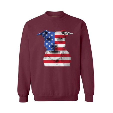 Awkward Styles Unisex USA Flag Pitbull Graphic Sweatshirt Tops American Flag Pitbull Patriotic 4th of