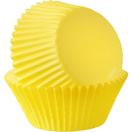 (4 Pack) Wilton Yellow Mini Cupcake Liners, 50-Count, 415-7026