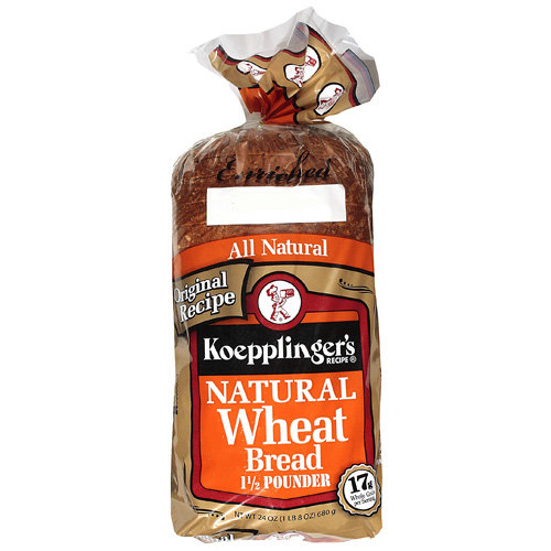 Koepplinger's Recipe: 1 1/2 Pounder Natural Wheat Bread, 24 Oz