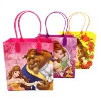 "12PCS- 6"" Disney Princess Beauty & The Beast Party Favor Goodie Birthday Loot Bag Small"