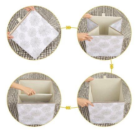"""Storage Bin Toy Cube Box Bin Basket for Shelf 13"""" x 13"""" x 13"""" Gray Gypsophila Style - image 1 de 8"""