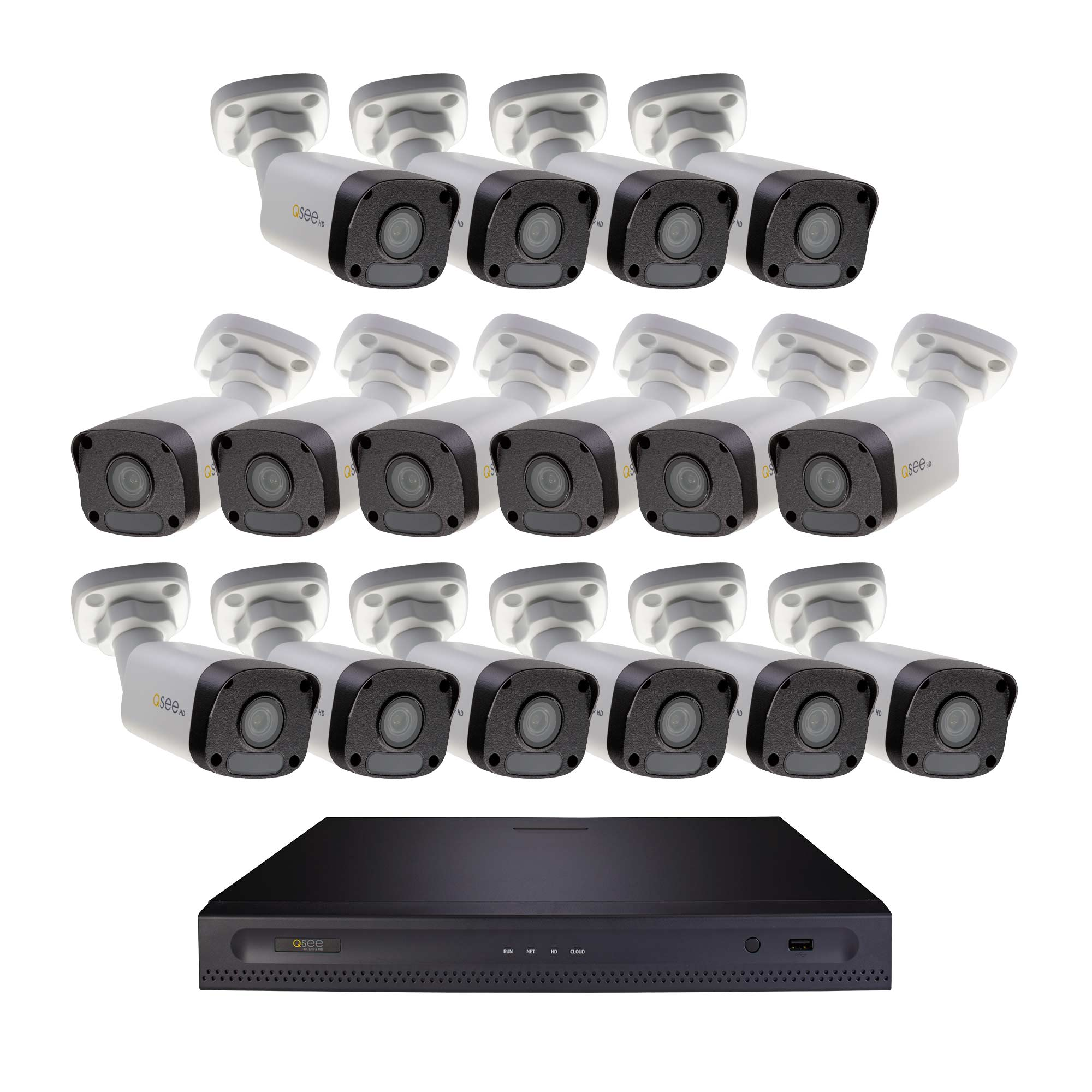 Q-See 16 Channel 5MP NVR with 2TB HDD and 16x 5MP IP Bullet Cameras (H162K2.16)