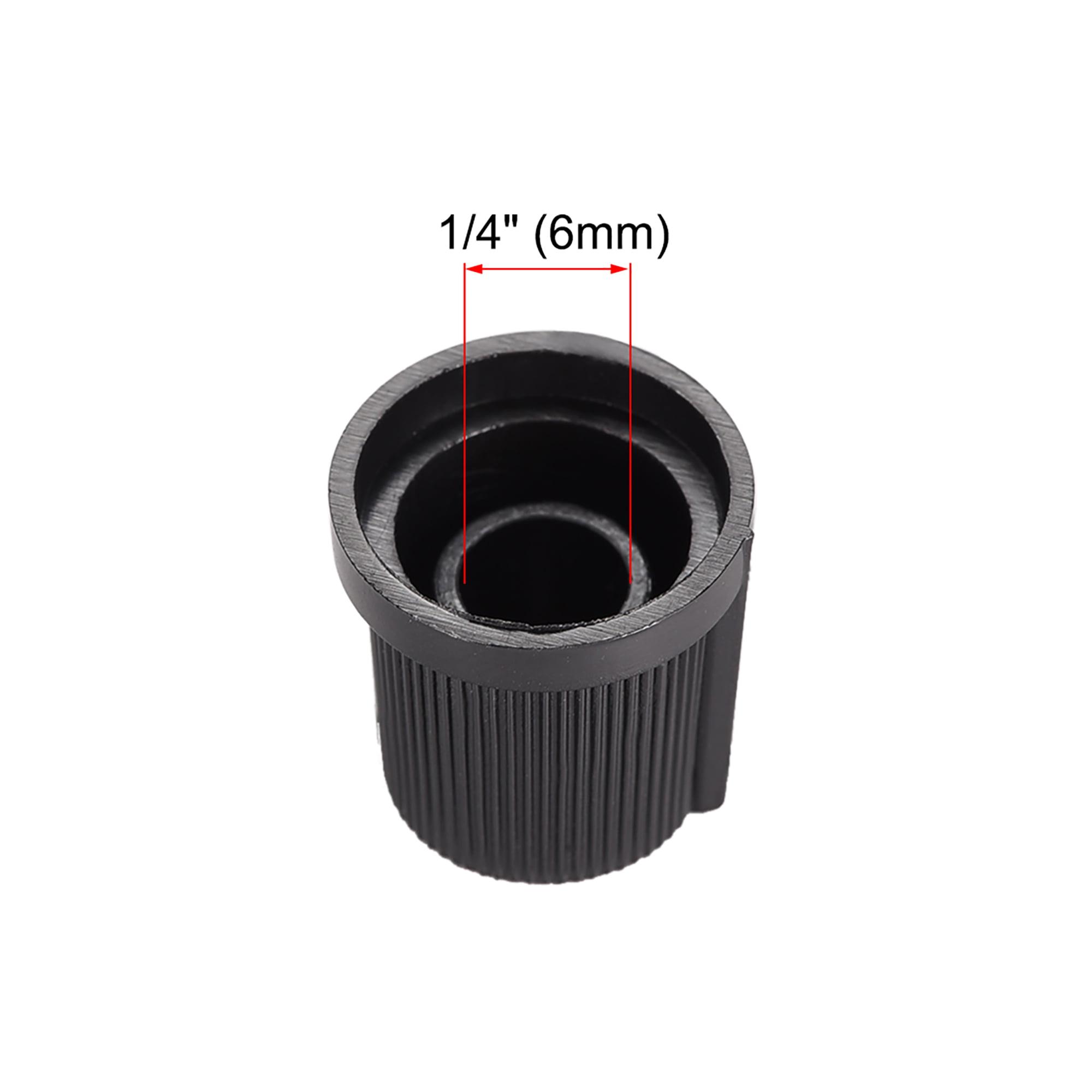 10Pcs 6mm Knob for Effect Pedal Amplifier Black Potentiometer Knob White Mark
