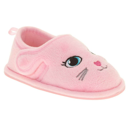 Toddler Girls Pink Kitty Cat Loafer Style Slippers Animal House - Sugar Cat Shoes