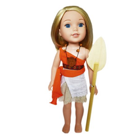 My Brittany's Moana Outfit for American Girl Wellie Wisher Dolls-14 Inch Doll Clothes - Princess Jasmine Inspired Outfit