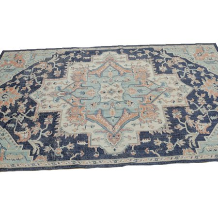 Mohawk Home Tibetan Market Bazaar Collection Rug In Aqua - 6ft 3in x 10ft